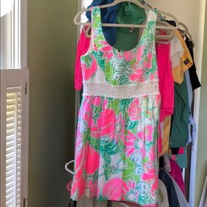 Lilly Pulitzer A Line dress with crochet cut out